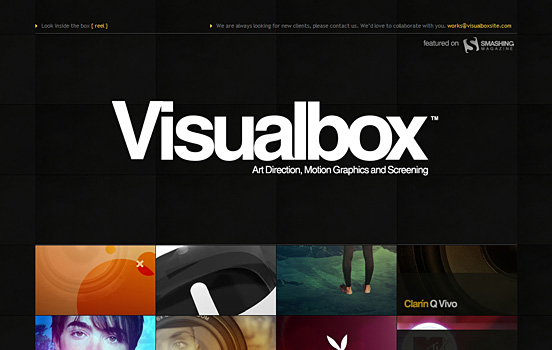 Visual Box, Top Black and White Website