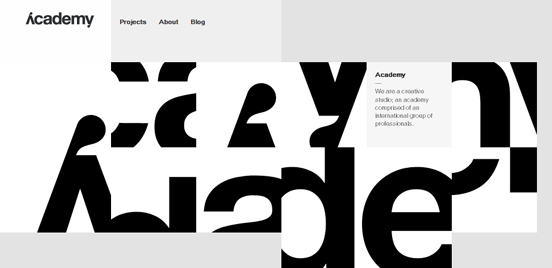 Academy, Black and White Websites