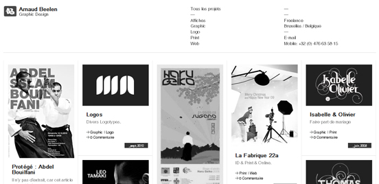 Arnaudbeelen, Black and White Websites