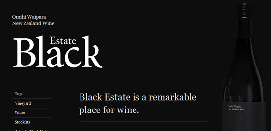 Black Estate, B & W Web Design