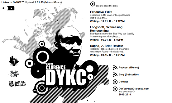 Do you know Clarence, Black and White Website