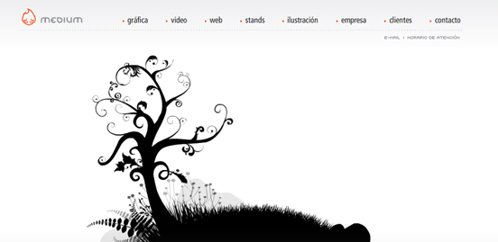 Medium, Black and White Website