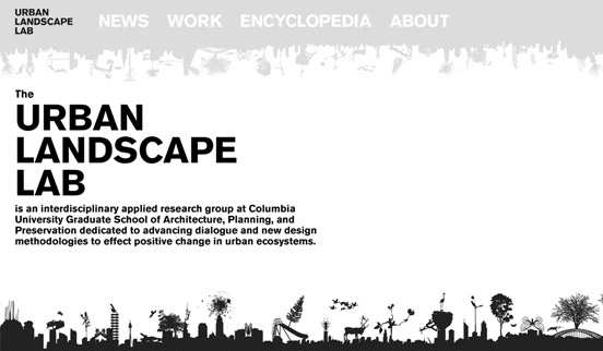 The Urband Landscape, Black and White Website