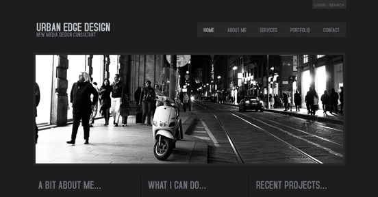 Urban Edge, Black and White Website
