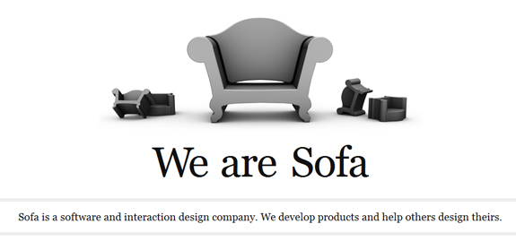 We are Sofa, Black and White Website