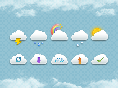 Mini Clouds Set PSD