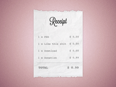 Receipt - Free PSD Download