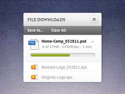 File Download Widget (PSD)