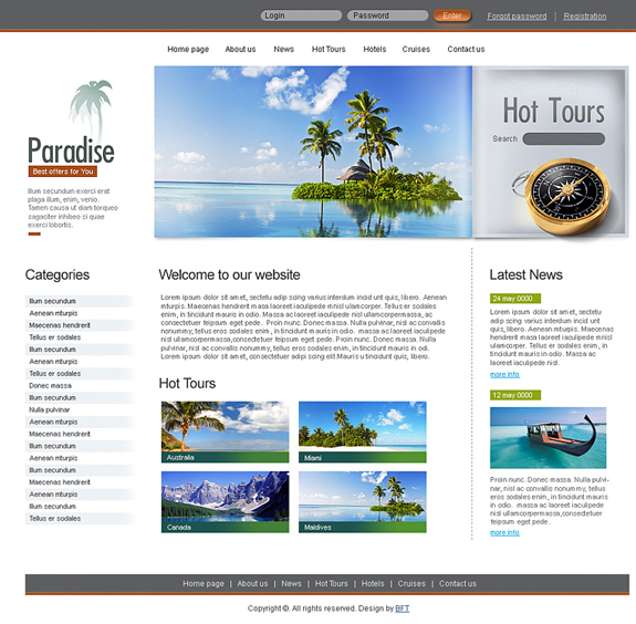 Travel Psd Template Download
