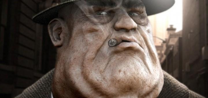 3d fat boss charachter
