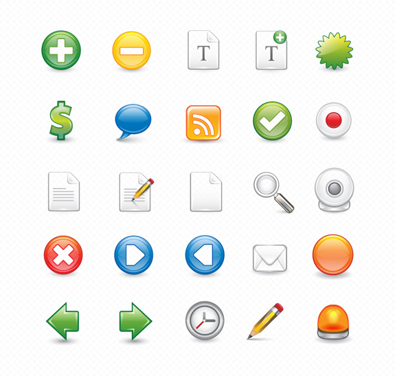 Icon Pack: 25 Vector Icons