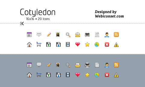 Cotyledon Mini Icons Free for Download