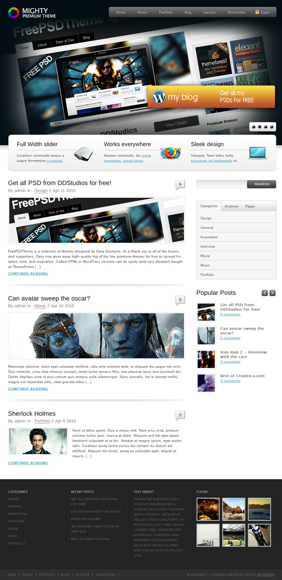 mighty themeforest free download