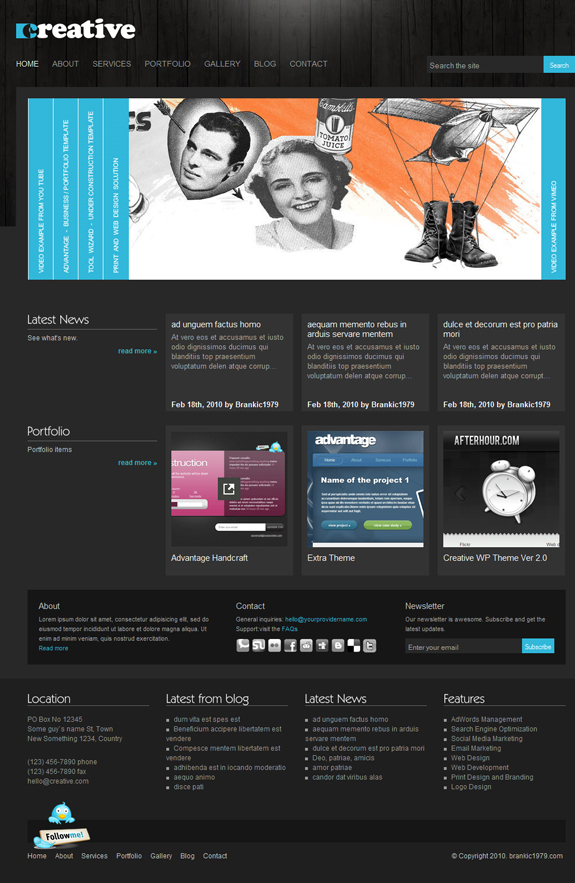 Creative, WordPress Premium Theme