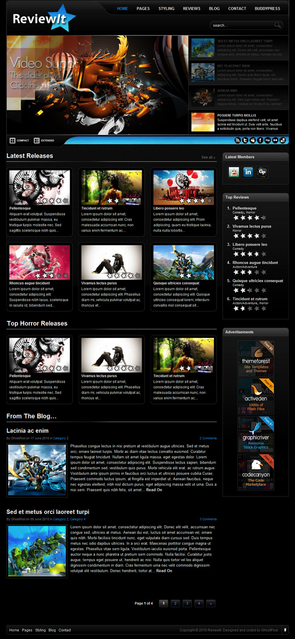 review it premium wordpress theme download