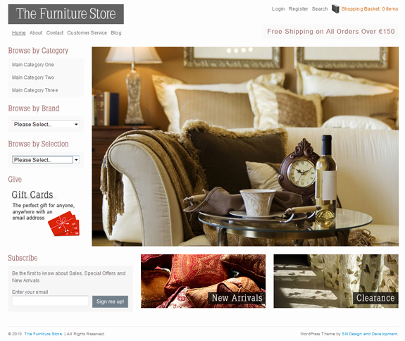 The Furniture Store, WordPress Premium Theme