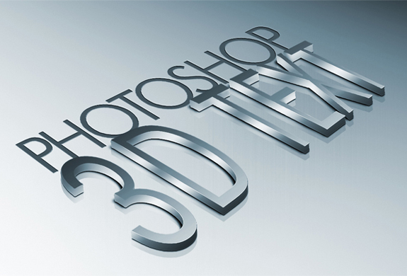 Metal, 3d Text Effect in Photoshop