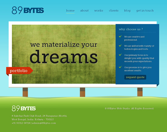 89Bytes, Web Layouts and Interfaces