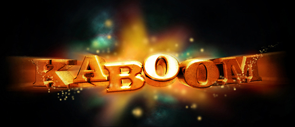 KABoom 3D Text Photoshop 30 Striking 3D Text in Photoshop Tutorials