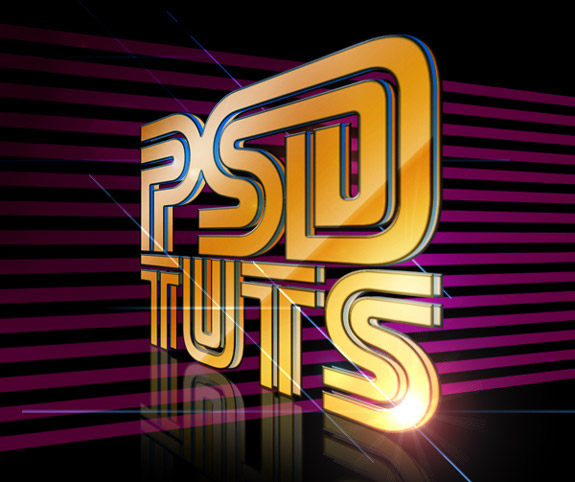 Stylish Retro 3D Text Photoshop 30 Striking 3D Text in Photoshop Tutorials