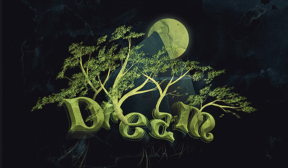 Trees, 3d Text Effects in Photoshop