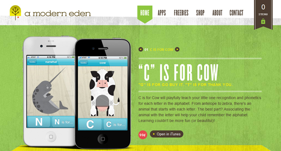 A Modern Eden, Web Layouts and Interfaces