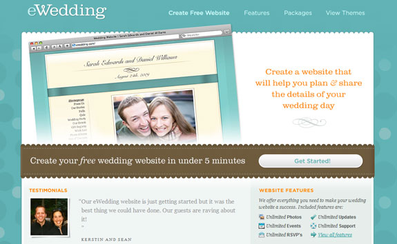 eWedding, Web Application Interface
