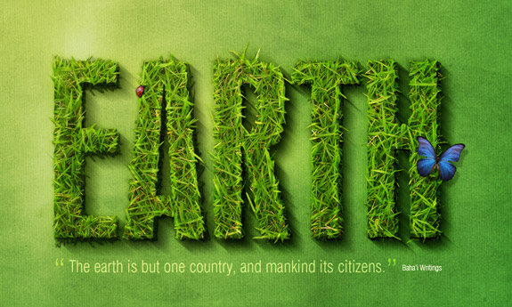 Earth, 3D Text in Photoshop