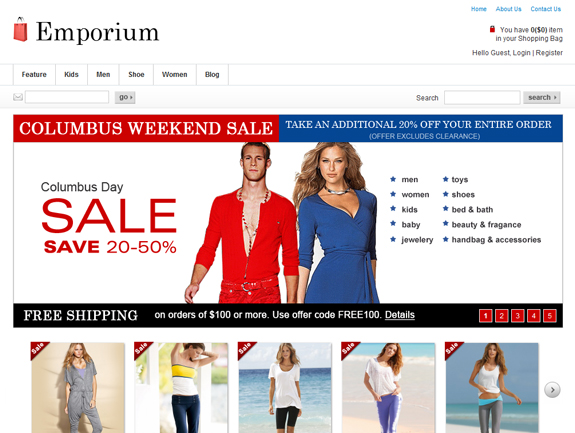 Emporium E-Commerce Theme