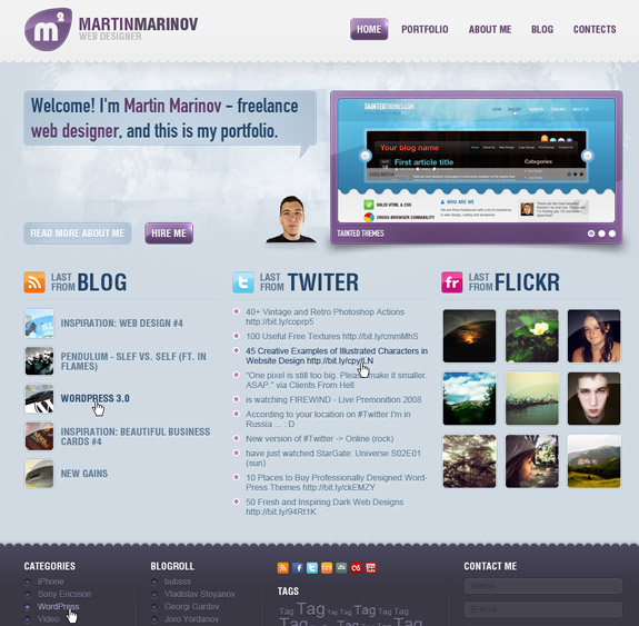 Free Lance Web Designer, Web Layouts and Interfaces