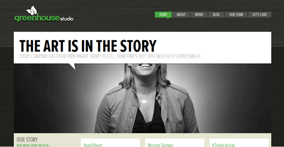 Green House Studio, Web Layouts and Interfaces