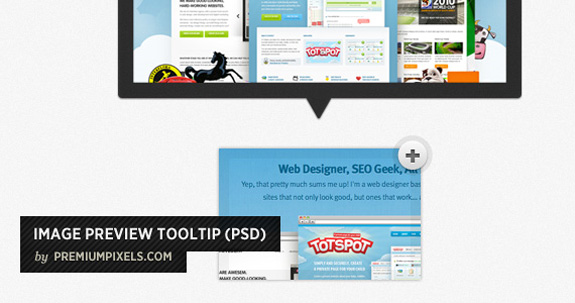 Image Preview Tooltip, Open Source Web Design Resources