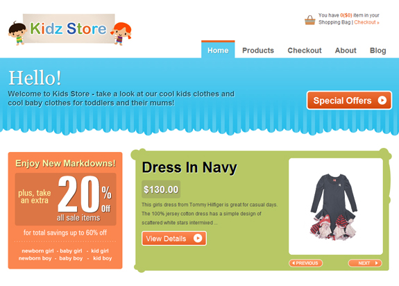 Kidz E-Commerce Store