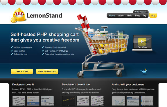 Lemon Stand, Web Application Interface