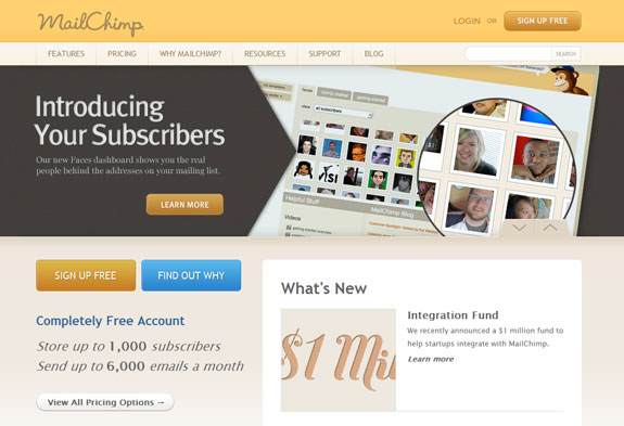 Mailchimp, Web Application Interface