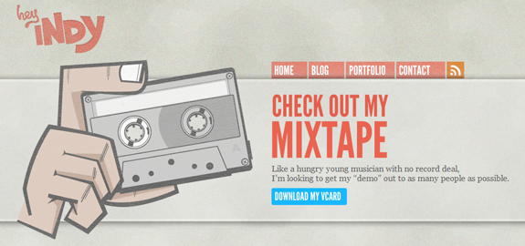 Mix Tape, Web Layouts and Interfaces