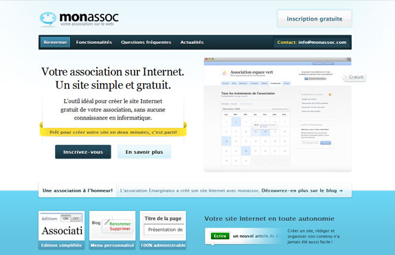 Monnassoc, Web Application Interface