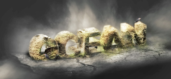 Occean, 3D Text in Photoshop Tutorial