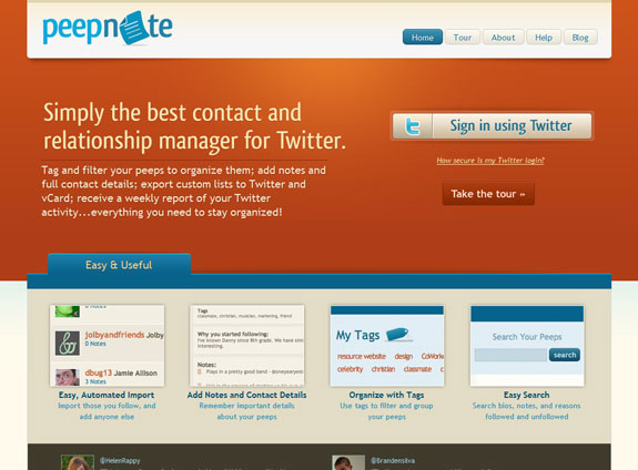 Peepnote, Web Application Interface