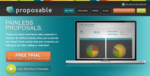 Proposable, Web Application Interface