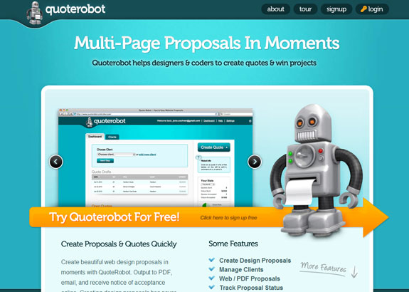 Quoterobot, Web Application Interface