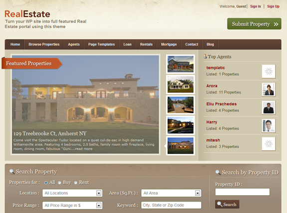 Real Estate WordPress E-Commerce Theme