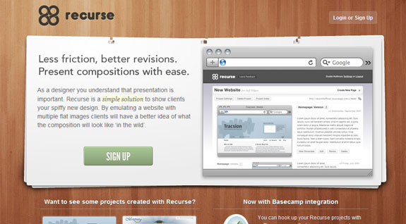 Recurse, Web Application Interface