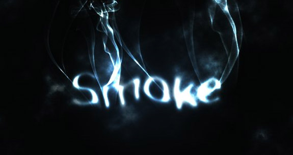 Smoke, 3D Text in Photoshop