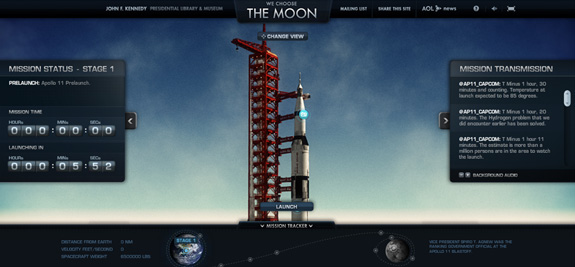 The Moon, Web Layouts and Interfaces