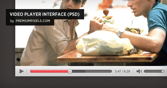 Video Player Interface, Open Source Web Design Resources