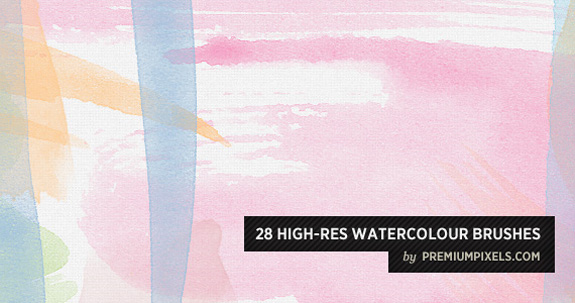 Water Color Brushes, Open Source Web Design Resources