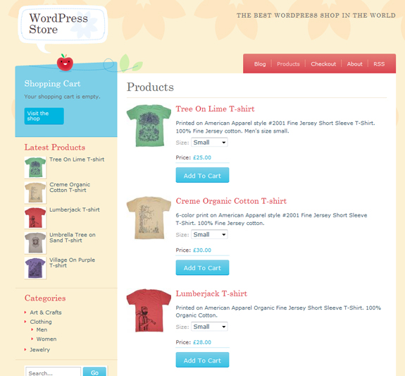 Crafty Cart WordPress E-Commerce Store