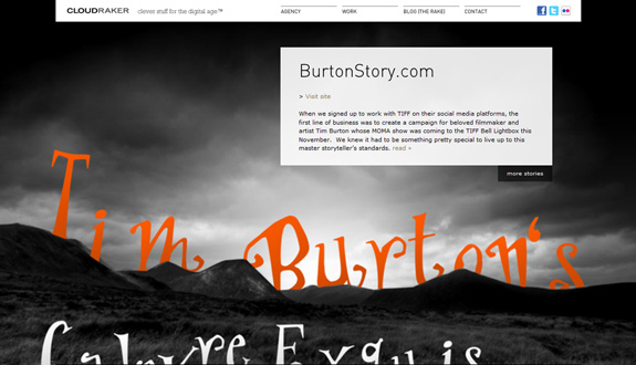 Burton's Story, Website Background Designs, Trends and Resources