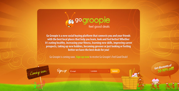 Go Groopie, Website Background Designs, Trends and Resources